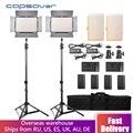 Capsaver TL-600S 2 шт. светодиодный свет для студийной видеосъемки фото фотография Светодиодная панель лампа с треногой 5500K CRI 95 NP-F550 батарея