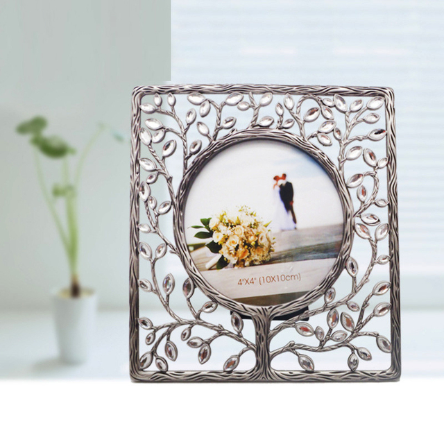 Fashion Noble Crystal Metal frames Lovely DIY Round Picture frame ...
