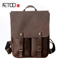 AETOO New leather men bag crazy horse skin men and women leisure travel bag Europe and the United States retro fashion b