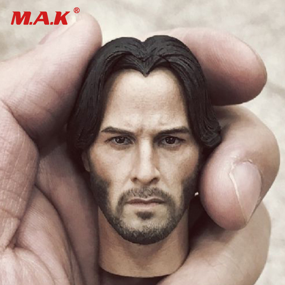 In Stock John Wick Keanu Reeves Head Sculpt Head Carving Model Fit 12 Action Figure Accessory 1 6 scale full set male action figure kmf037 john wick retired killer keanu reeves figure model toys for gift collections