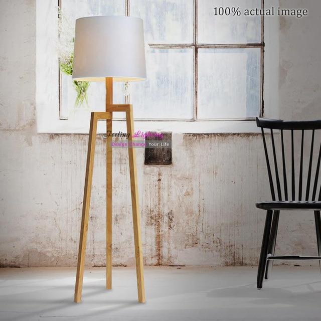 Freies Verschiffen Neue Kreative Nordeuropischen Landhausstil Holz Stehleuchte Moderne Stativ Schlafzimmer Wohnzimmer