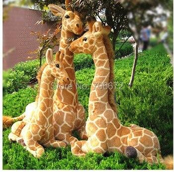 Artificial animal giraffe plush toy doll lifelike prone giraffe 70x48cm toy great gift t8802