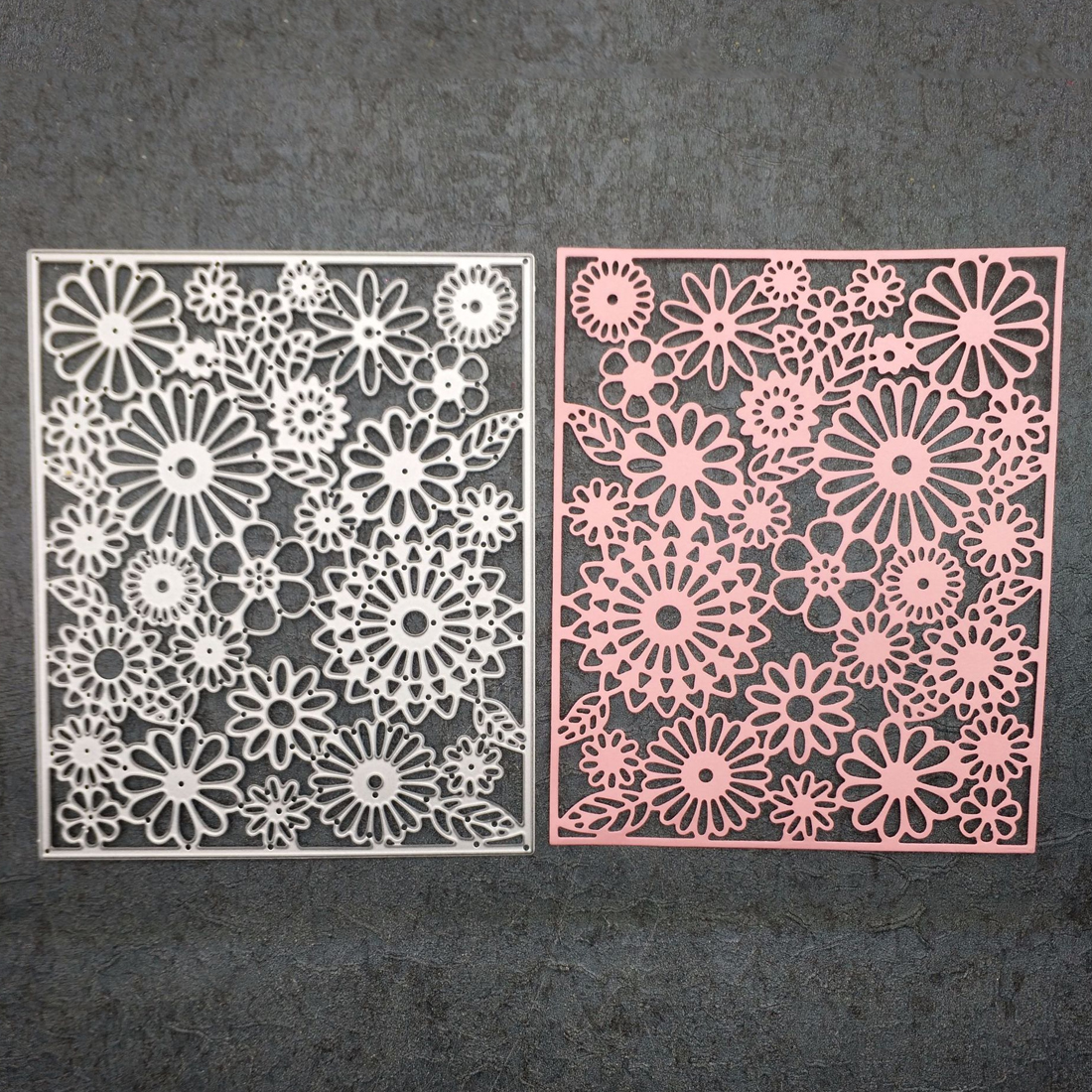 Cutting dies Craft Metal Cutting Dies For Scrapbooking Matrix Stamps Frame Flower Square Background Dies Tag Template Embossing