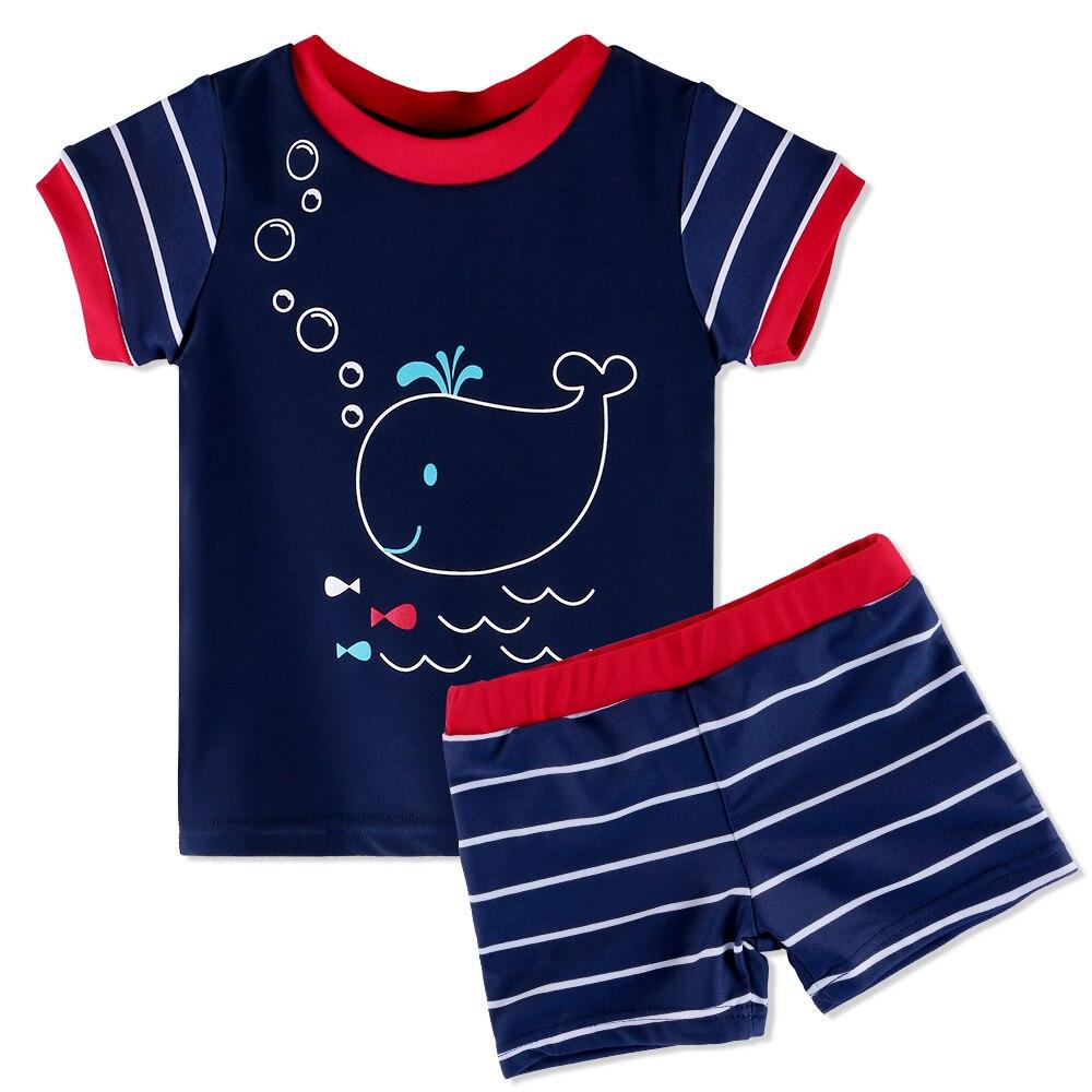 Cute UPF50+Lycra Short Sleeve Baby Swimsuit For Boys Girls 3M-6Y Summer Swimwear Kids Toddler Swimming Suit Surfing Beachwear