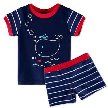 Lindo UPF50 + Lycra de manga corta bebé traje de baño para niñas 3M-6Y  verano traje de baño niños niño traje de natación surf playa 25fb6875087