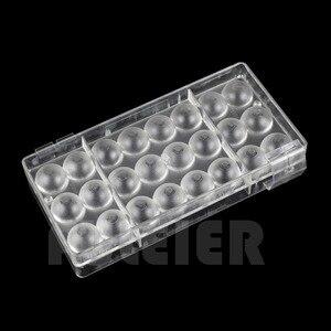 Image 3 - 2 ピース/セット 3D ボール穴形状ポリカーボネートチョコレートモールド、 PC sugarcraft キャンディ型ケーキ菓子ベーキングペストリーツール