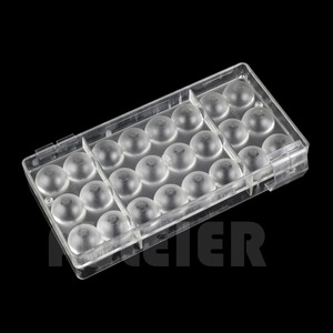 Image 3 - 2 teile/satz 3D ball mit einem loch form Polycarbonat schokolade form, PC sugarcraft candy mold Kuchen süßwaren backen gebäck werkzeug