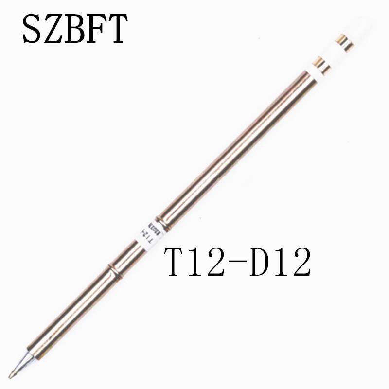 SZBFT 1 piezas para estación de soldadura Hakko t12 T12-D12 Puntas de soldadura de soldadores eléctricos para estación FX-950 / FX-951