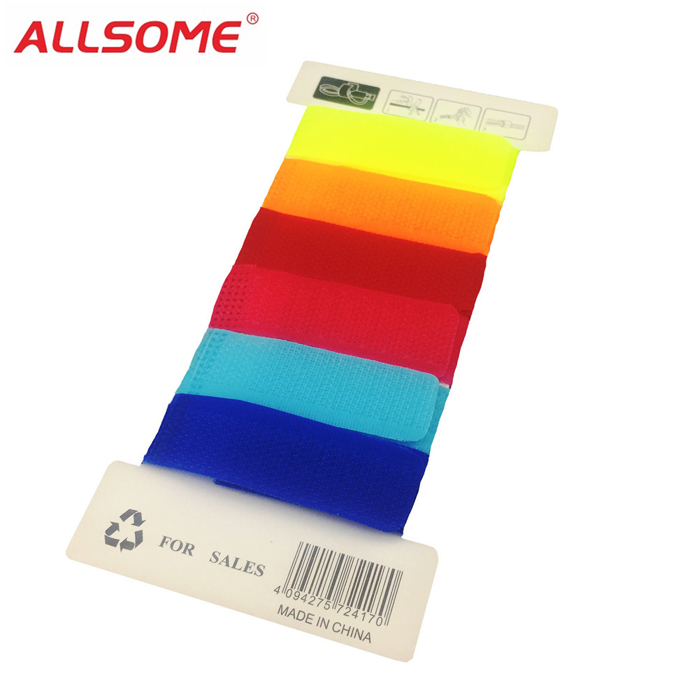Allsome 6 Colors Magic Tape Wiring Harness Tapes Cable Ties Tie Cord Zip Computer Earphone Winder Diy Ht1594 In From Home