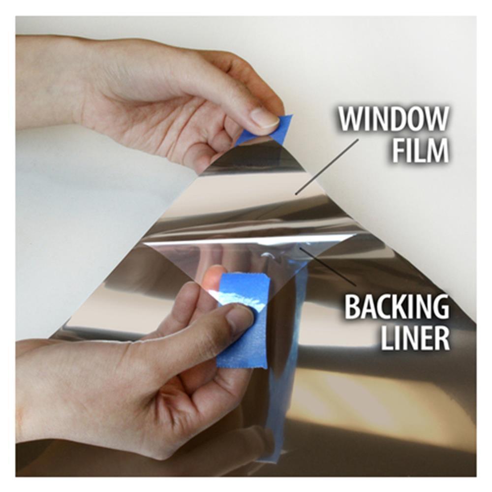 Étanche Argent Fenêtre Film Une Façon Miroir UV Rejet Autocollants Isolation Vie Privée de Bureau À Domicile de Décoration 1.52 m x 20 m
