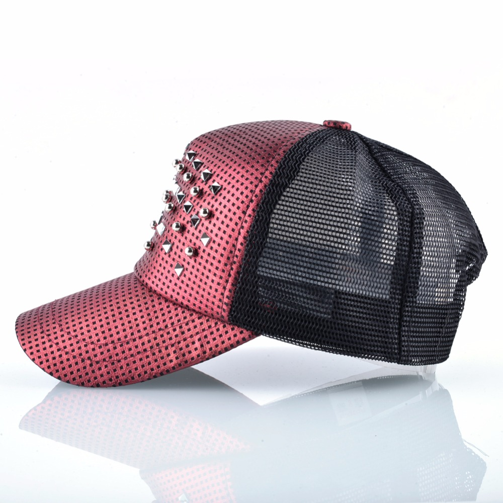 7fcd1454d Details about Fashion Women Baseball Cap Men Shinning Hip Hop Casquette  Rivet Snapback