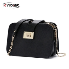 2019 Spring New Fashion Women Shoulder Bag Chain Strap Flap Designer Handbags Clutch Ladies Messenger Bags With Metal Buckle