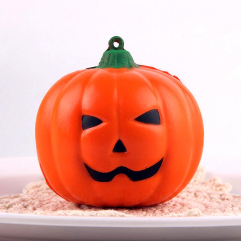 halloween pumpkin simulation fake lifelike props garden home party decor halloween slow rebound decompression toys - Fake Halloween Pumpkins