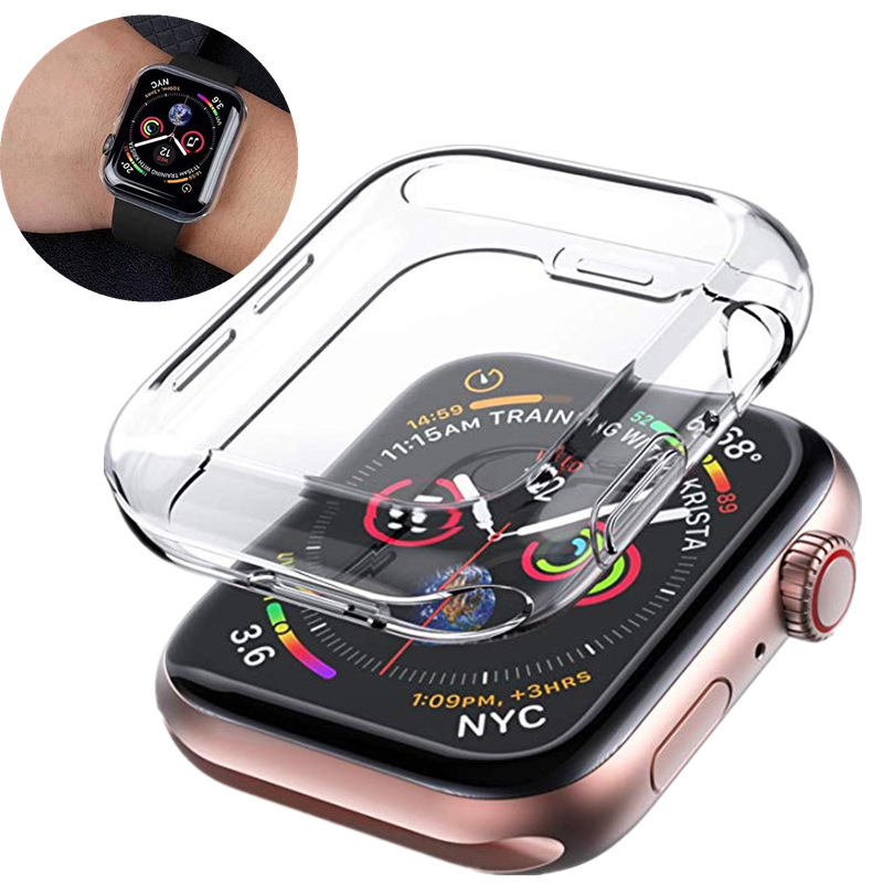 Clear Ultra-Thin Cover For Apple Watch 4 case  44mm 40mm All-Around TPU Screen Protector For iWatch Series 3/2 42mm 38mm ShellClear Ultra-Thin Cover For Apple Watch 4 case  44mm 40mm All-Around TPU Screen Protector For iWatch Series 3/2 42mm 38mm Shell