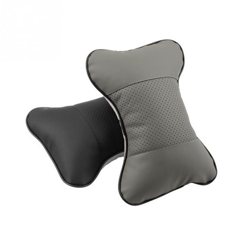 1 pcs High Quality Perforating Design Danny leather Hole-digging Car Headrest Supplies Neck Au to Safety Headrest