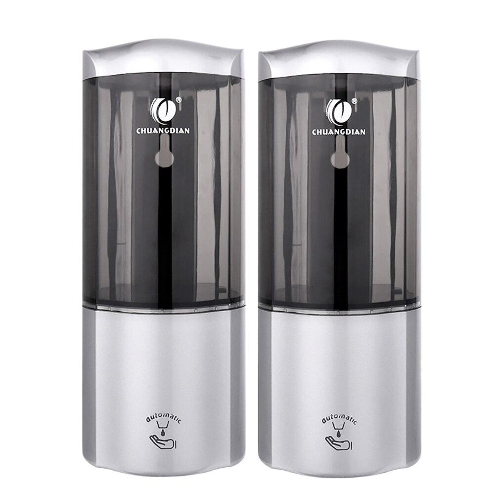 Nova chegada Luxuoso 2 pcs 500 ml inteligente Wall Mount Sensor INFRAVERMELHO Automático Cozinha Banheiro Distribuidor da Loção do Sabão gota grátis - 5