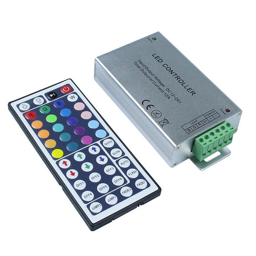 1 Set RGB LED Dimmer Controller With 44 Key IR Remote Controller DC 12V 24V For