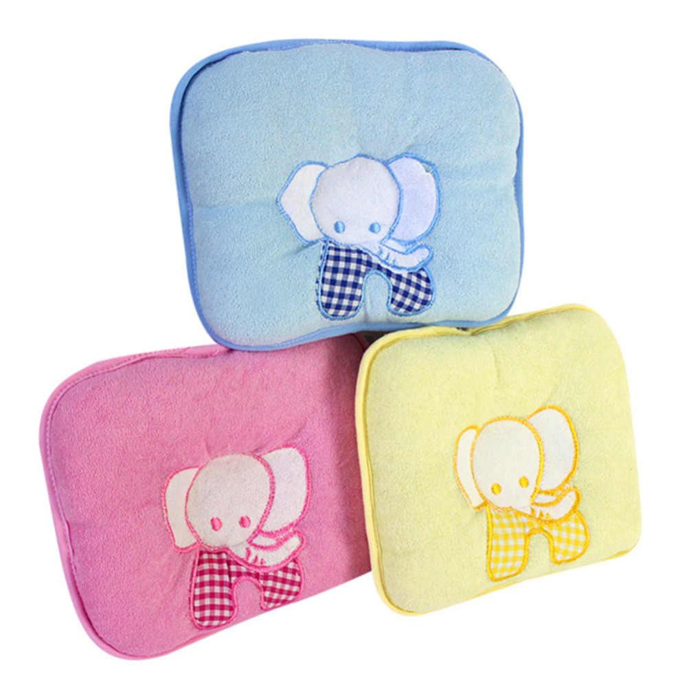 Gran oferta elefante lindo bebé almohada de memoria infantil prevenir cabeza de sesgo ropa de cama para niños recién nacidos almohada de cuello suave