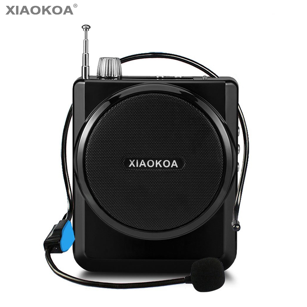 Voice amplifier Microphone Amplifier with Mini Portable Loudspeaker for Tour Guides Teachers speech speaker radio mic XIAOKOA rolton k300 megaphone portable voice amplifier waist band clip support fm radio tf mp3 speaker power bank tour guides teachers
