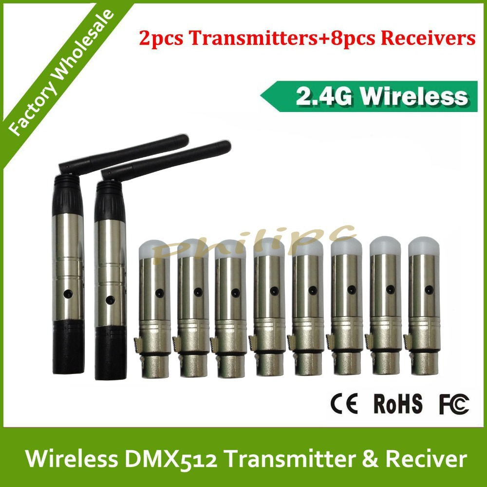 DHL Free Shipping Wireless DMX transmitter receiver wireless transceiver stage lighting special 2.4G  interference 10pcs sitemap 165 xml