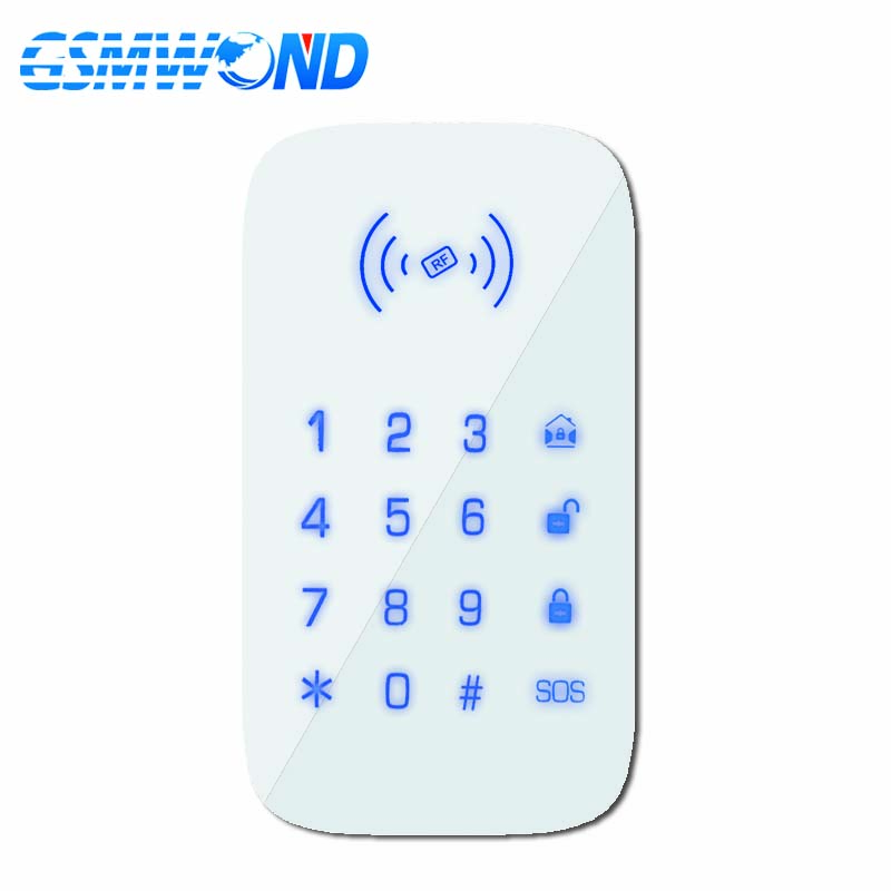 GSMWOND Wireless Keyboard 433MHz Touch Keypad Install 1.5V AAA Battery  For Our PG103 / W2B WIfi GSM Home Burglar Alarm System