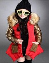 100% утиный белый donw девушки Модная одежда Зима пуховики для девочек одежда детская одежда девушка верхняя одежда куртки пальто
