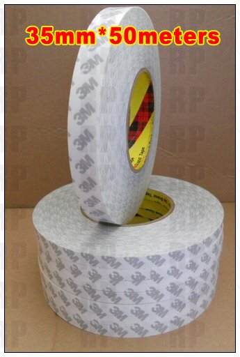 1 Roll 35mm*50M 3M 9080 Translucent Two Sides Adhesive Glue Tape for Mini Pad, Tablet, Cellphone Screen, LCD Surface Bond 27mm 50m 3m 9080 two sides adhesive sticky tape for electrica panel lcd screen bond photo picture wood frame joint