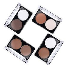 Face Shading Powder Contour Bronzer Highlighter Palette Set Trimming Powder Makeup Face Contour Grooming Pressed Powder 2 Color