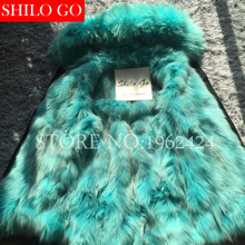 Plus Size 2016 Women Warm Winter Army green Camouflag Jacket Coats Thick Parkas Lake Blue fox Raccoon Collar Hooded Outwear coat