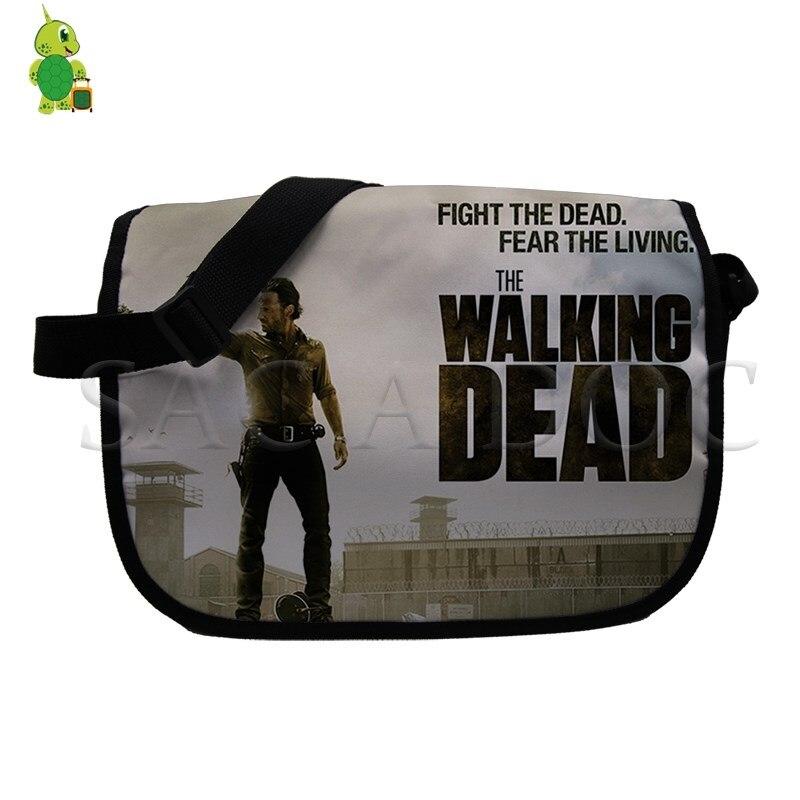 ccd83190596b The Walking Dead Daryl  Rick Negan Printed Shoulder Bag Women Men Messenger  Bags Crossbody School Bag Casual Travel Handbag