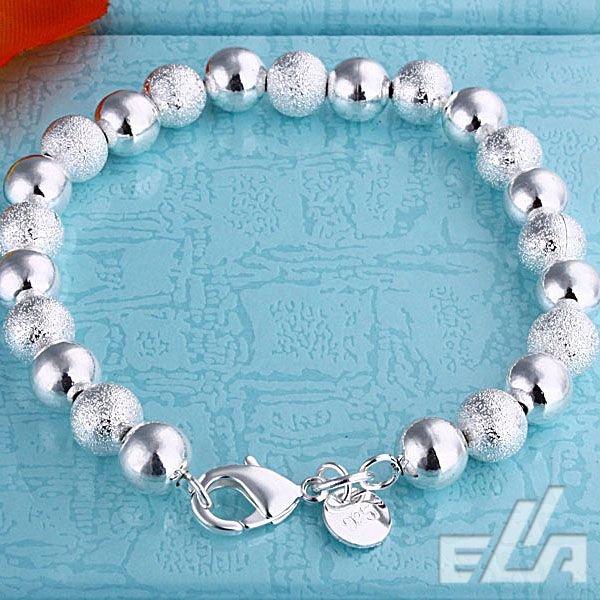 6c9e309a25c9 ᗗ925 joyería de plata al por mayor 8mm Cuentas pulsera - a485