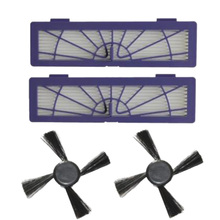 4Pcs/Set Replacement 2xSide Brushes +2xHigh-Performance Filters For Neato 945-0123 Botvac 70 70E 80 85 D80 D85 Accessory Parts