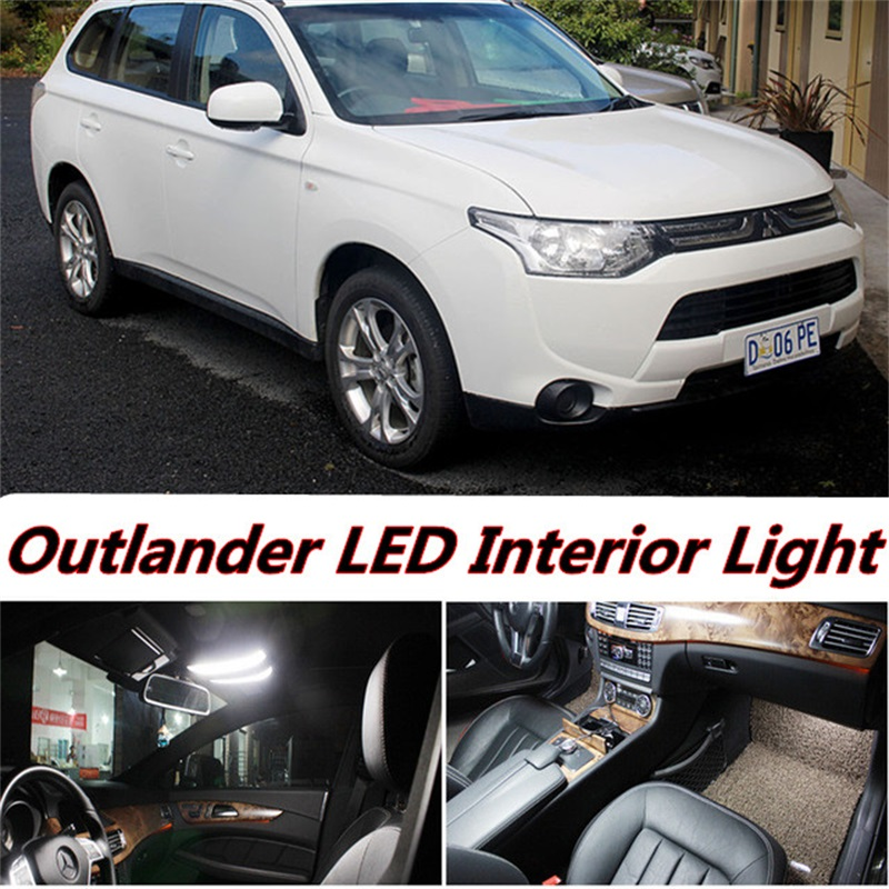 4pcs free shipping Error Free Auto LED Bulbs Car Interior Light Kit Reading Lamps For Mitsubishi Outlander accessories 2007-2016 2pcs 12v 31mm 36mm 39mm 41mm canbus led auto festoon light error free interior doom lamp car styling for volvo bmw audi benz
