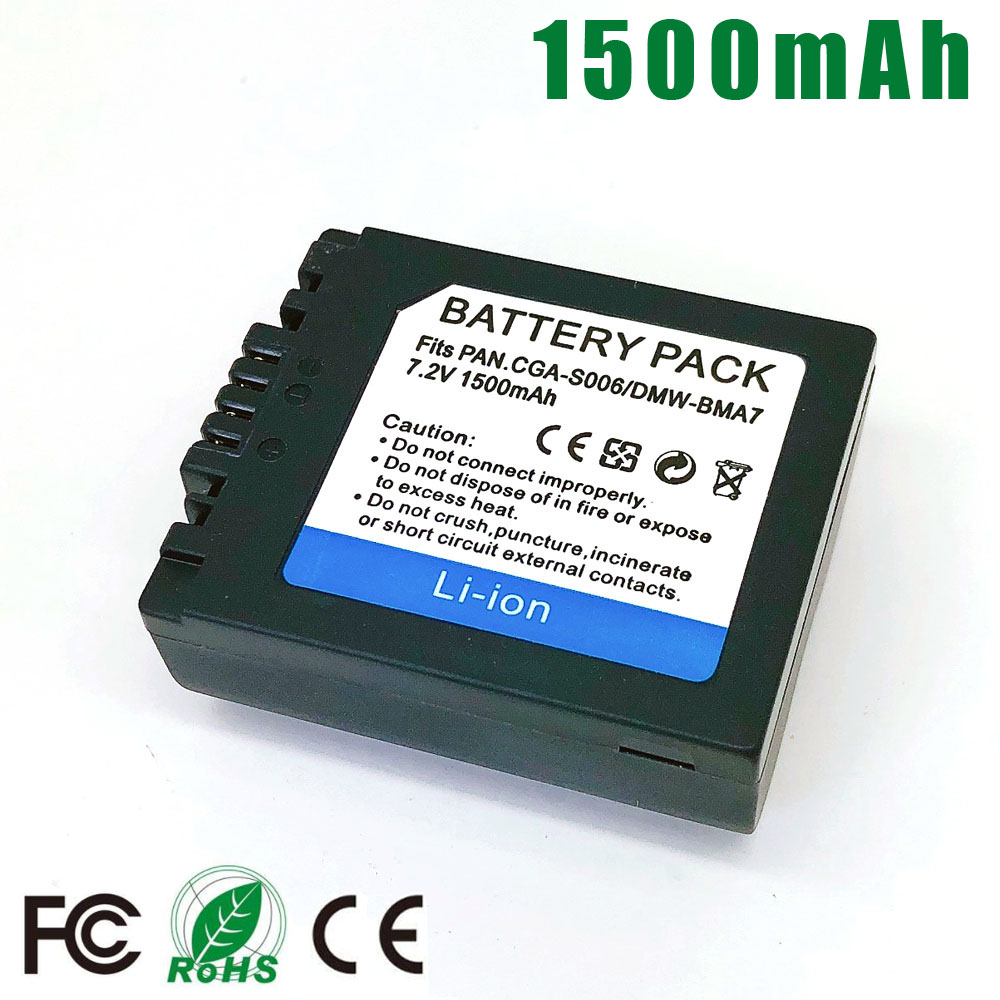 Battery for S006E DMC-FZ7 Fz50-K-S Panasonic Lumix FZ30 FZ35 FZ18 FZ28 DMW-BMA7 FZ38