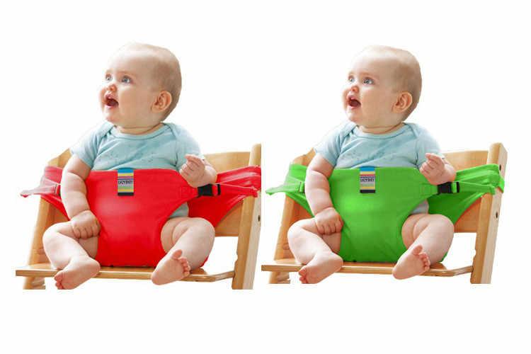 เด็กแบบพกพาที่นั่งเด็กเก้าอี้ท่องเที่ยวพับได้ล้างทำความสะอาด Dining สูงรับประทานอาหารฝาครอบที่นั่งความปลอดภัยเข็มขัดเข็มขัดเสริม