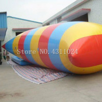 Free Shipping 0.9mm PVC 8m x 3m Large Air Water Blob Jumping Inflatable Jumping Pillow Water Air Bag (Free Pump+Repair Kits)