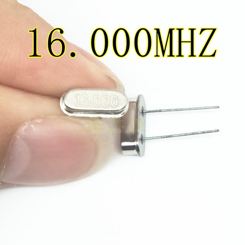 100pcs DIP HC-49S 16MHz 20ppm 20pF Quartz Resonator 16M 16.000mhz Crystal