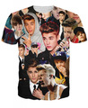 New Fashion 3D Printed Short-sleeve T-shirt for Women/Men Justin bieber printed Lover's T shirt plus size
