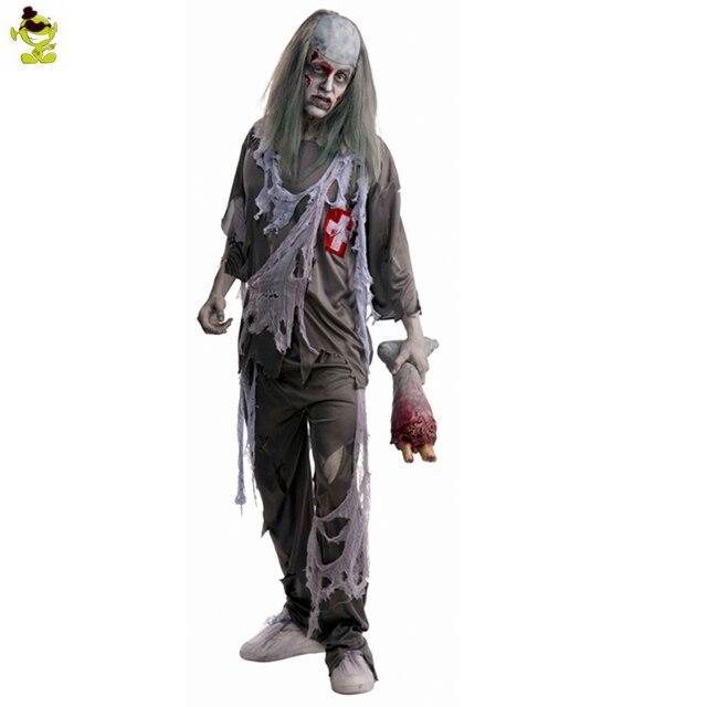 Erwachsener Mann Halloween Zombie Kostüm Karneval Cosplay Horror Tod