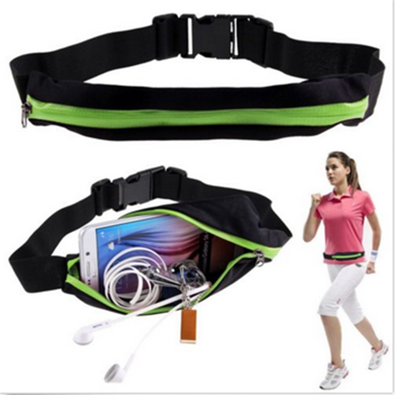 New Outdoor Running Waist Bag Waterproof Mobile Phone Holder Jogging Belt Belly Bag Women Gym Fitness Bag Lady Sport Accessories 16