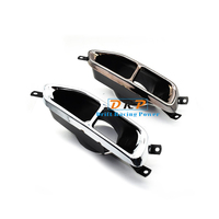 hotselling304 electroplate stainless steel exhaust muffler tip fit for new 18 19 BMW G11 G12 730 740 upgrade BMW 760 four tips