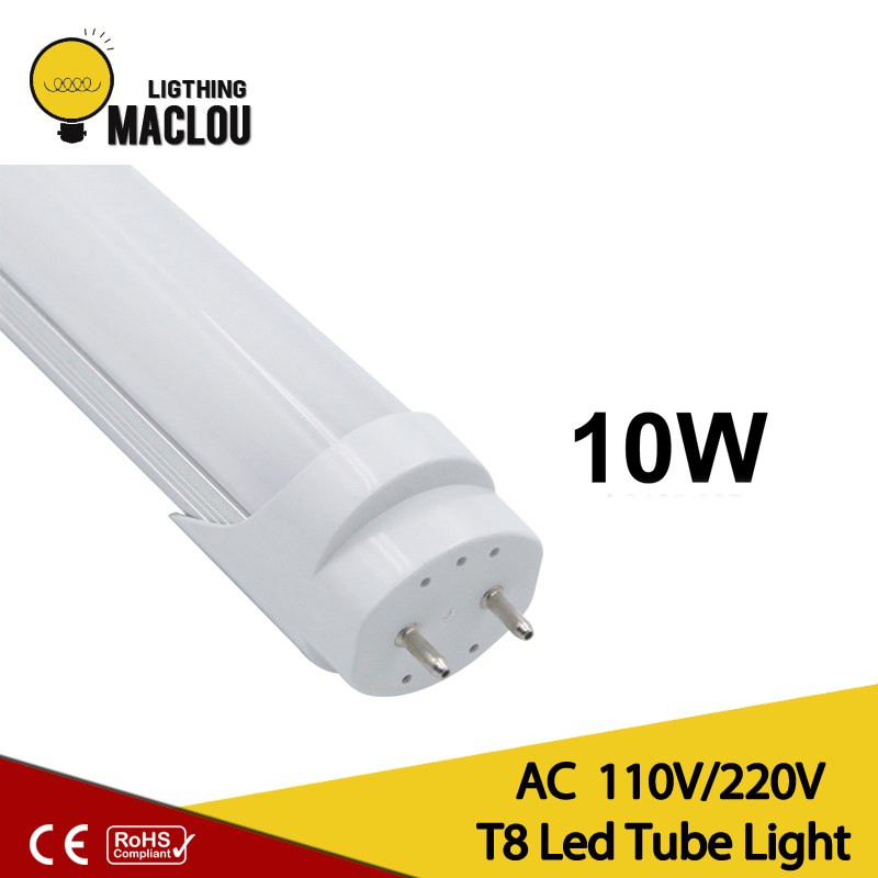 T8 tube led bulbs Energy saving  T8 LED lamp 600mm 10w  110v 220v SMD2835 LED Fluorescent tube, LED tube T8 ультрафиолетовая лампа philips tl d18 08 60cm tube t8