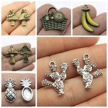 Mix Plants Pendant Mushroom Charm For Jewelry Making Diy Craft Supplies Girl Handmade DIY Bracelet Necklace