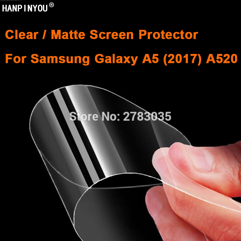 For <font><b>Samsung</b></font> Galaxy A5 (2017) <font><b>A520</b></font> Clear Glossy / Anti-Glare Matte Screen Protector Protective Film Guard (Not Tempered <font><b>Glass</b></font>) image