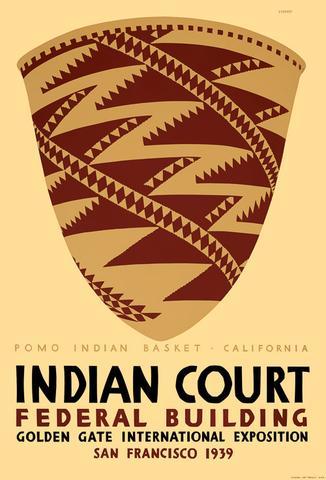Pomo Indian Basket Travel Poster Vintage Retro Decorative DIY Wall ...