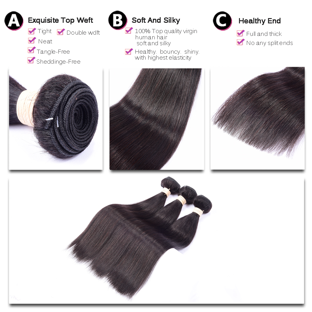 Straight perm for thick hair - Aliexpress Com Buy Brazillian Permed Straight Hair 100 Hair Bundles Virgin Human Hair Brazilian Perm Straight Weave 3pcs Lot Hot Deals Of The Day From