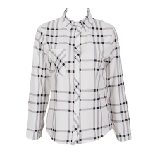 Autumn new Fashion Women ladies Loose plaid shirt casual blouse Long Sleeve button turn-down collar shirt blouse