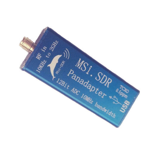جهاز إرسال لاسلكي متعدد الوسائط من 10 كيلو هرتز إلى 2 جيجاهرتز مع برنامج برودباند MSI. جهاز استقبال SDR متوافق مع SDRPLAY RSP1