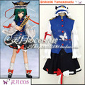 New Popular TouHou Project Cosplay Phantasmagoria of Flower View Shikieiki Yamaxanadu COS Costume Top+Skirt+Hat