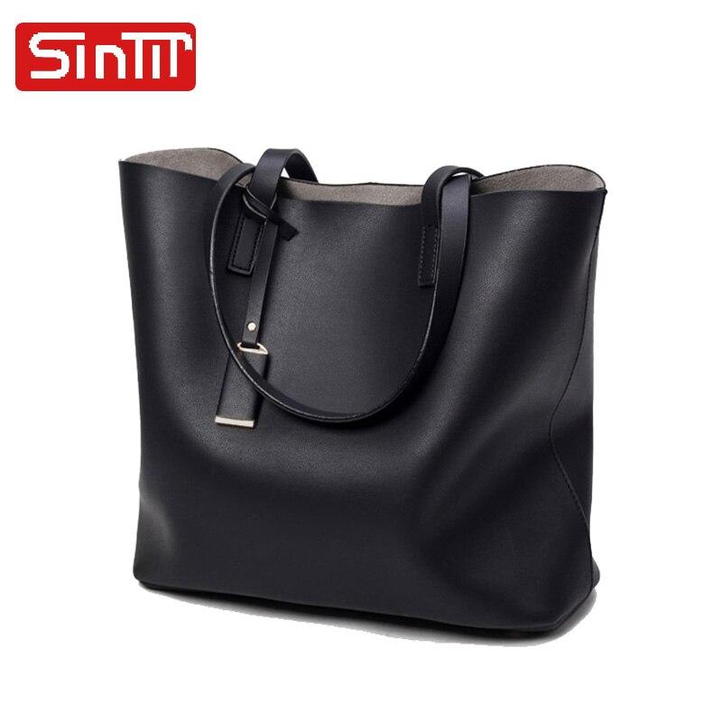 SINTIR Famous Brand Designer Leather Big Women Handbag High Quality Vintage Ladies Tote Shoulder Bags Female Large Shopping Bag